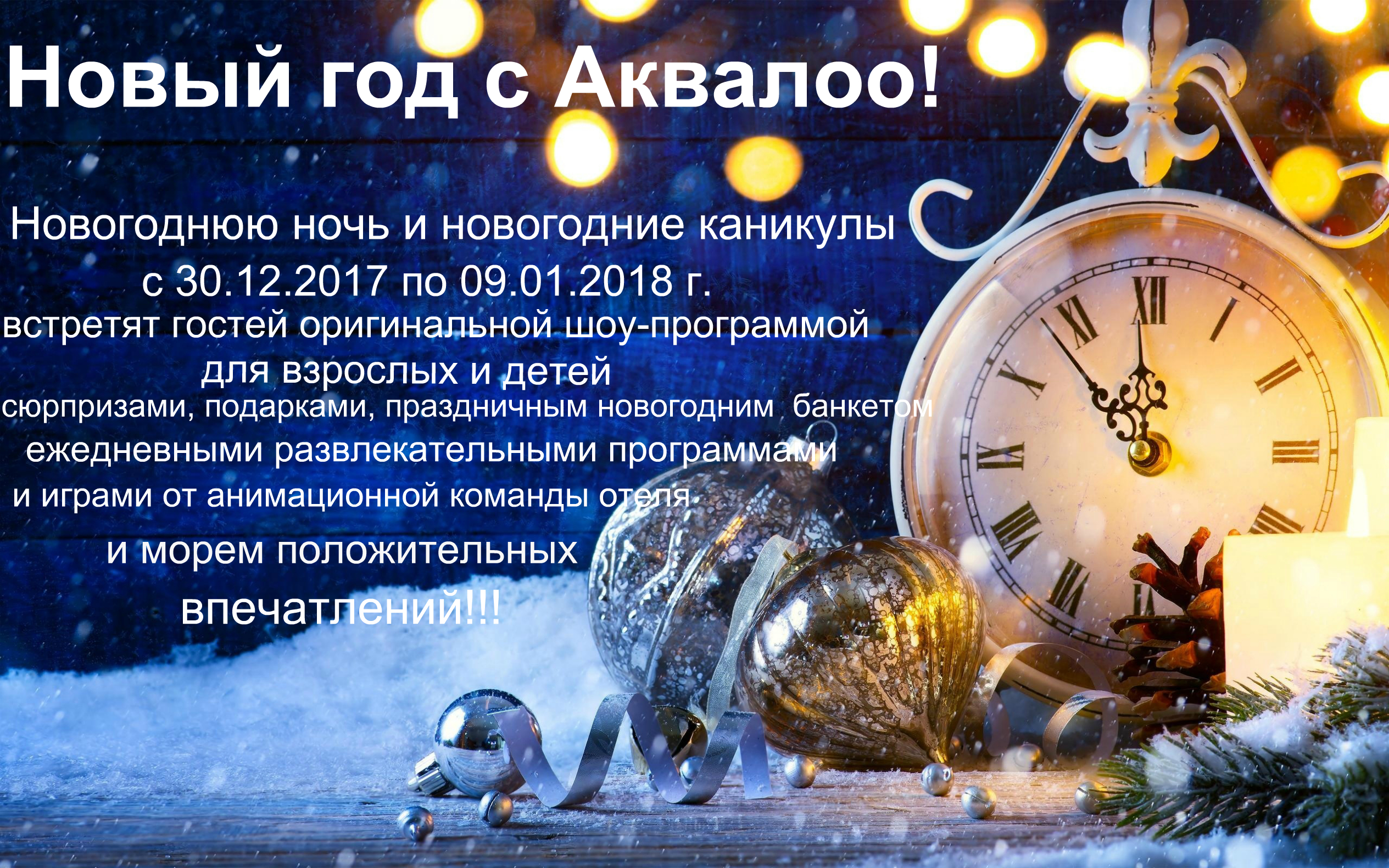 Новый Год с Аквалоо!